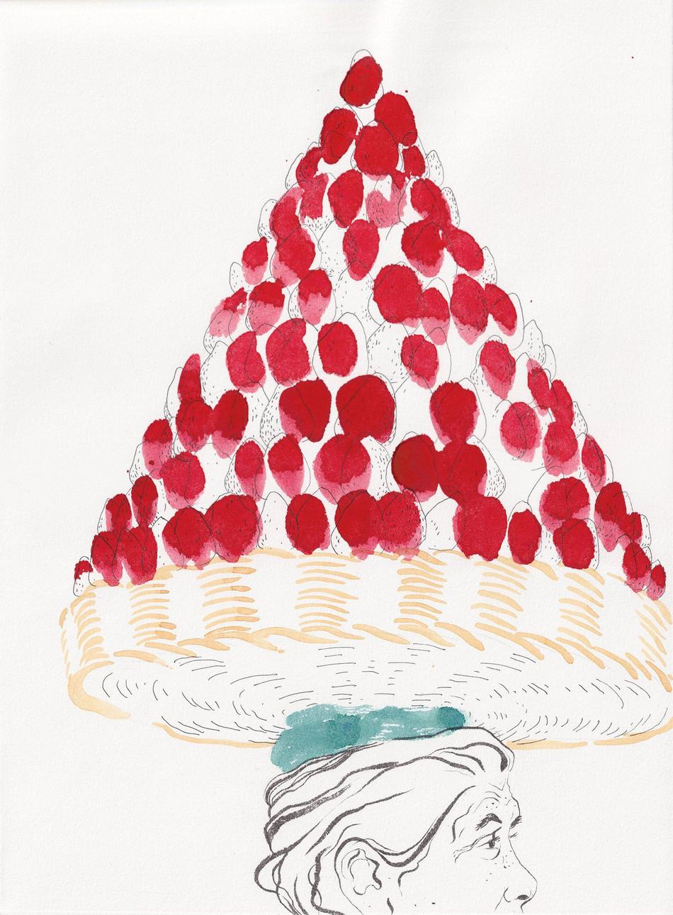 Pyramide de fraises