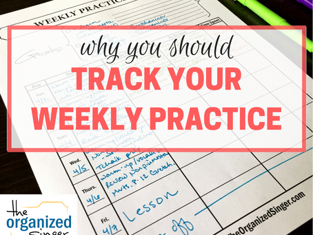 Why You Should Track Your Weekly Practice