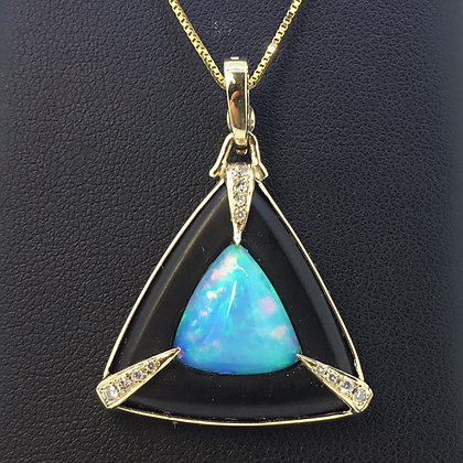Opal and Jet Pendant