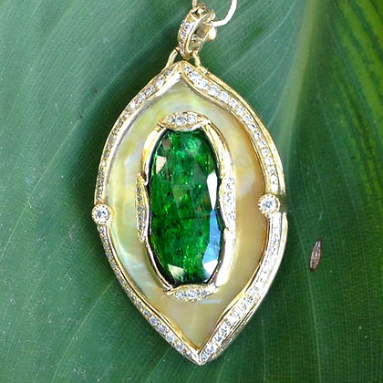 Gold Lip Mother of Pearl Pendant