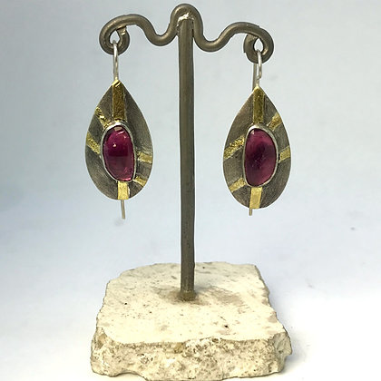 Tourmaline and Gold Earring