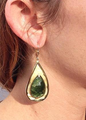 Gold Lip  Earrings