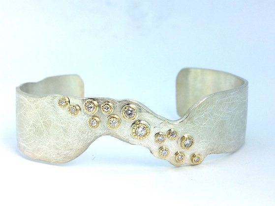 Sawed Diamond Cuff
