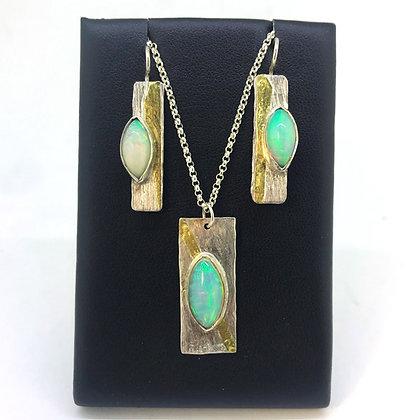 Opal Earrings and Pendant