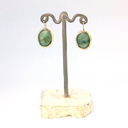 Emerald Slice Earrings