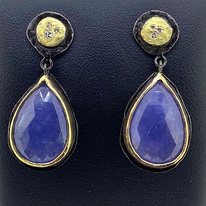 Tanzanite Slice Earrings