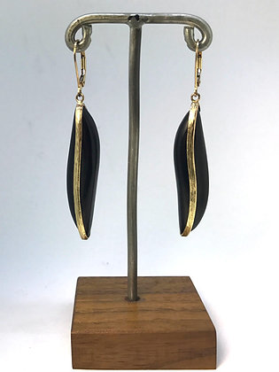Jet and Gold Earrings