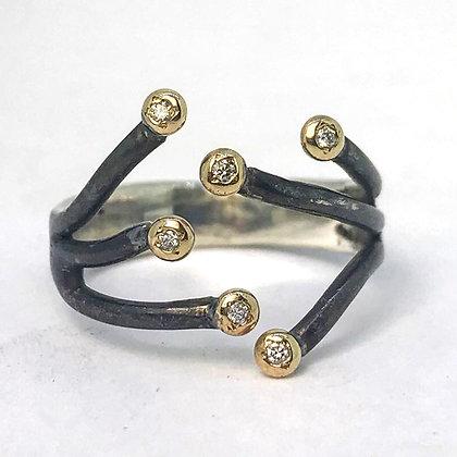Organic Black Coral Ring