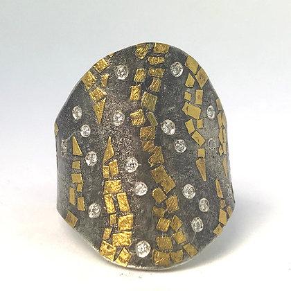 Fused 22K Gold ring