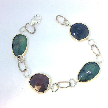 Sapphire and Emerald Bracelet