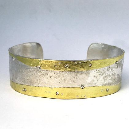 Fused Gold Cuff