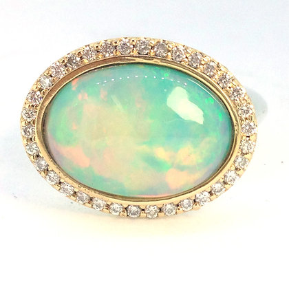 Opal Ring in 14kt Gold and Silver