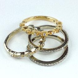 Diamond Stacking Rings
