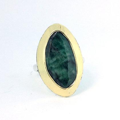 Emerald Slice Ring