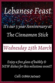 Our 3rd anniversary - 25th March