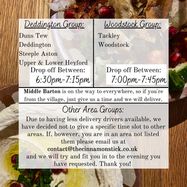 Order Your Delivery Today for Friday 26th & Saturday 27th February!