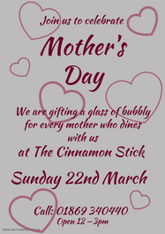 Mother's Day - 22nd March