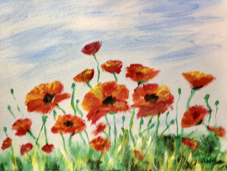 Poppies - 2nd Place Acrylic