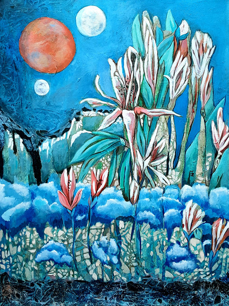 Flower Planet - 3rd Place Acrylic