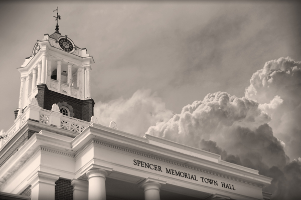 Spencer Town Hall (B&W 2018)