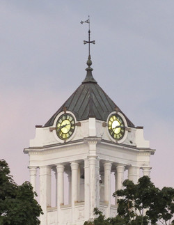 Spencer Town Hall clock tower