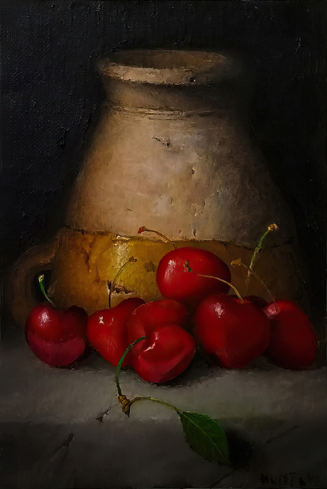 Cherries with Berry Cup - 2nd Place Oil