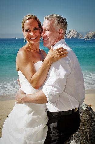 Honeymooners on the beach