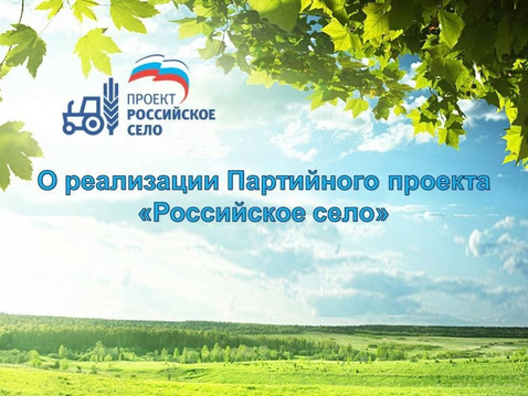 Федеральный проект партии Единая Россия «Российское село»