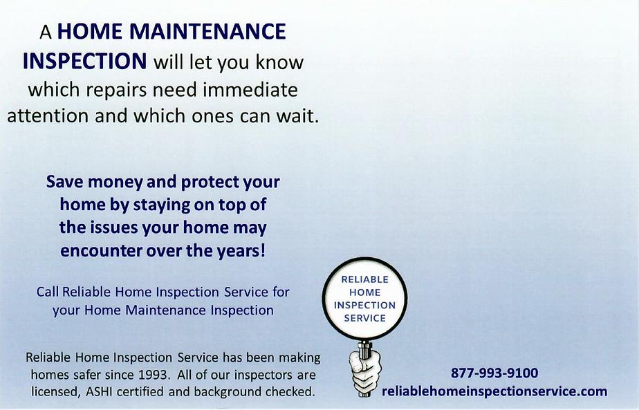 home maintenance inspectors