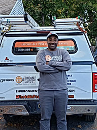 Ceyron Cran a Certified Pest Control Technician