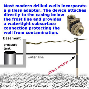drilled water well