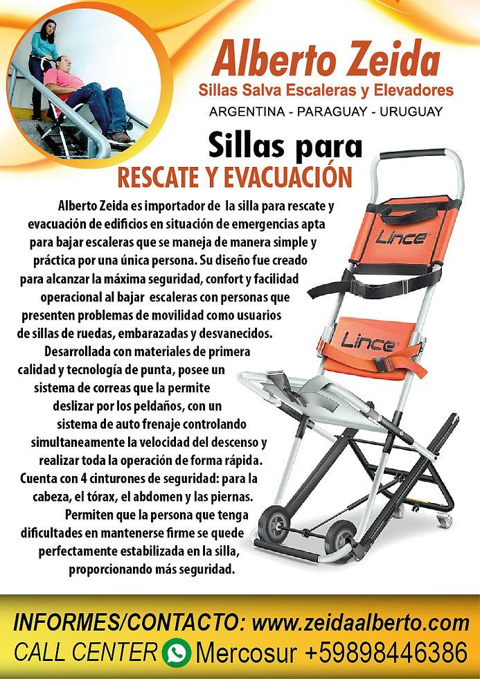 sillas para rescate zeida