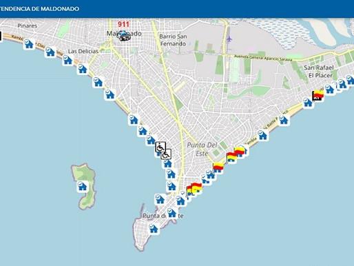 """Aplicación """"Info Playas"""" suma información sobre aforos en la costa de Maldonado"""