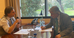Merkel y Lacalle Pou creen que el tratado Unión Europea-Mercosur puede ser firmado en el primer seme