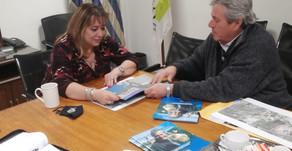 Enrique Antía se reunió con autoridades de Mevir y con la ministra de Vivienda Irene Moreira