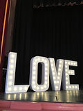 GIANT ILLUMINATED LOVE LETTERS WEDDING HIRE LEEDS