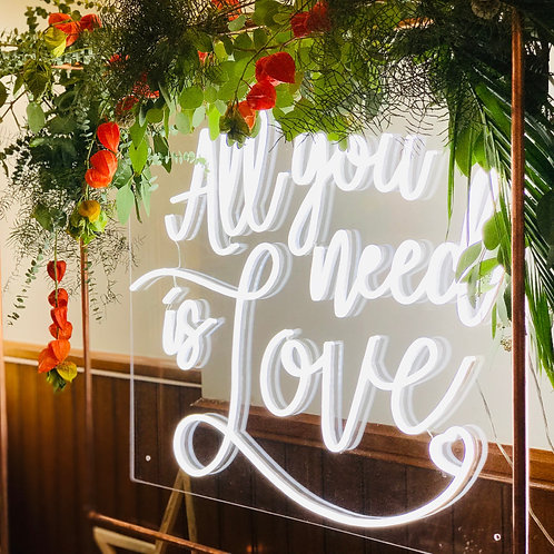 'ALL YOU NEED IS LOVE' NEON