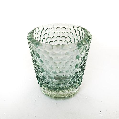 GREEN GLASS TEALIGHT HOLDER