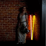 wedding hire neon light, industrial wedding venue