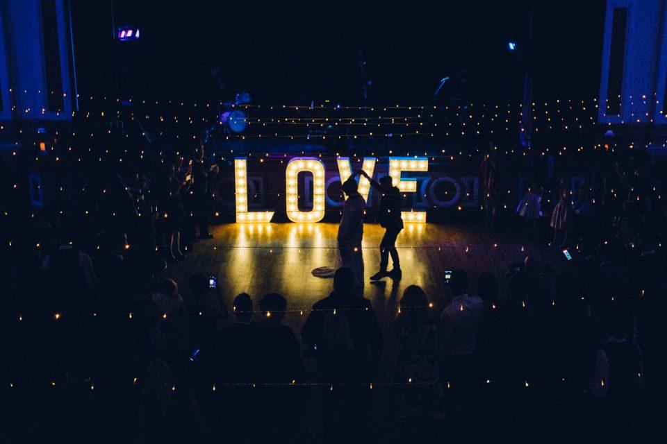 Illuminated wedding love lights