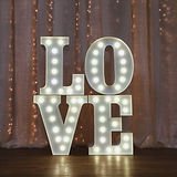 vintage wedding illuminated love letters