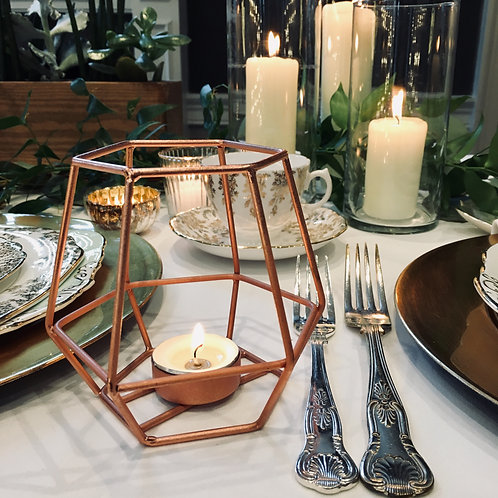 ROSE GOLD WIRE TEALIGHT HOLDER