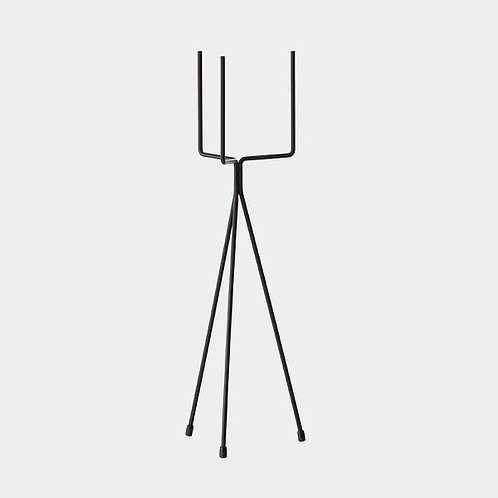 TALL BLACK METAL STAND WITH CERAMIC POT