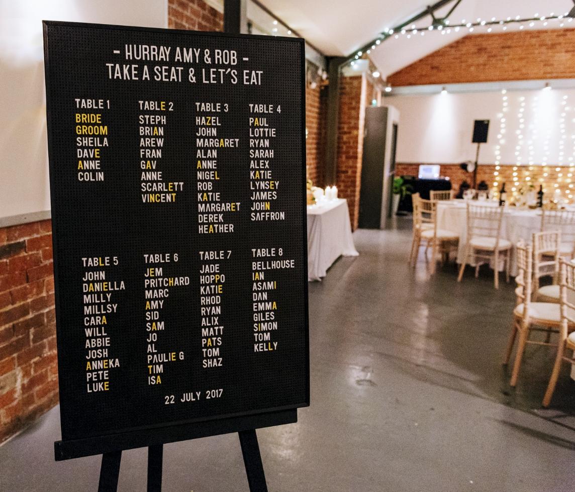 wedding memo board
