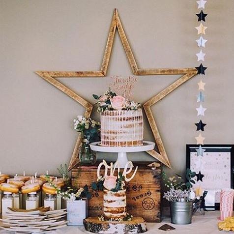 vintage rustic star decor handmade party