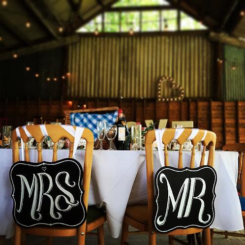 'MR & MRS' CHALKBOARDS