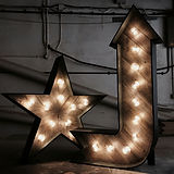 rustic star and arrow illuminated