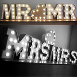 mr and mr wedding lights illuminations hire