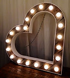 vintage wedding illuminated love heart