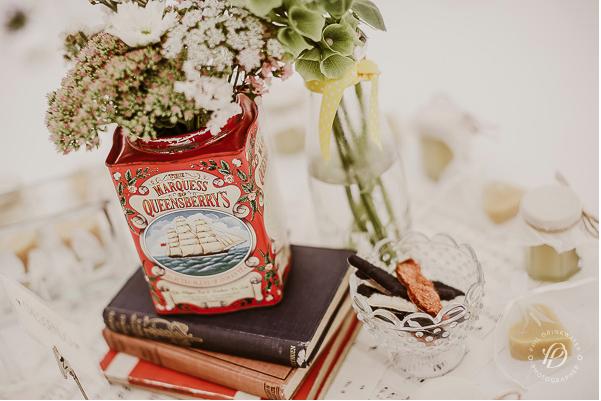 vintage tea tin pretty wedding